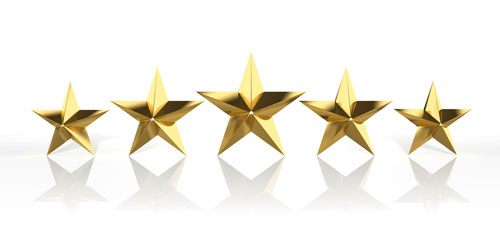 Image of 5 Stars Referring To Reviews